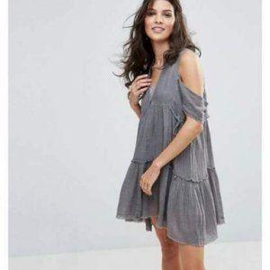Free People Gauze Indus Gauzy Mini Dress S